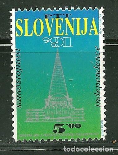 ESLOVENIA 1991 IVERT 1 *** PROCLAMACIÓN DE LA INDEPENDENCIA (Sellos - Extranjero - Europa - Eslovenia)