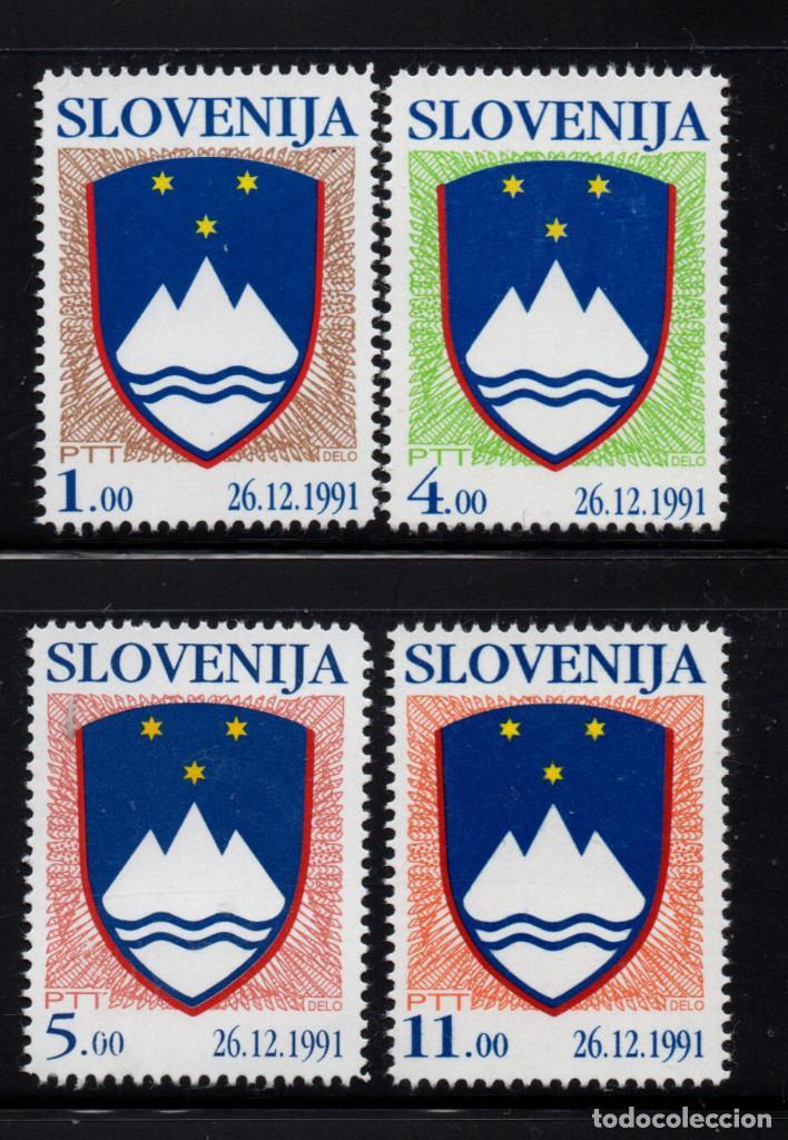 ESLOVENIA 2/5** - AÑO 1993 - ESCUDO NACIONAL (Sellos - Extranjero - Europa - Eslovenia)