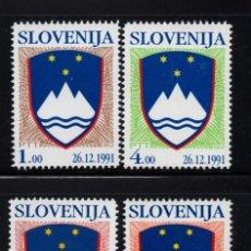 Sellos: ESLOVENIA 2/5** - AÑO 1993 - ESCUDO NACIONAL. Lote 193950777