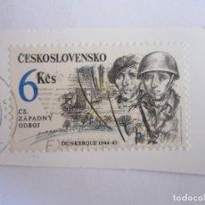 Sellos: SELLO DE CHECOSLOVAQUIA. 6 KCS. II GUERRA MUNDIAL. DUNKERQUE 1944-45. Lote 195545607