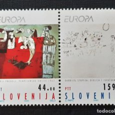 Sellos: ESLOVENIA, YVERT 46-47**, EUROPA 1993 ARTE. Lote 196605581