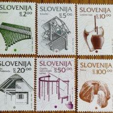 Sellos: ESLOVENIA, TEMA MÚSICA, INSTRUMENTOS 1993 MNH (FOTOGRAFÍA REAL). Lote 199486310