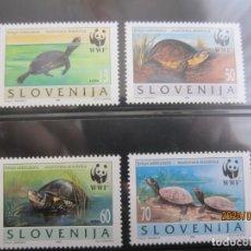 Sellos: ESLOVENIA 1996 4 V. WWF NUEVO. Lote 199805576