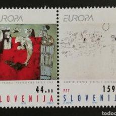 Sellos: ESLOVENIA, N°46/47 MNH, EUROPA 1993, ARTE CONTEMPORÁNEO (FOTOGRAFÍA REAL). Lote 203274216