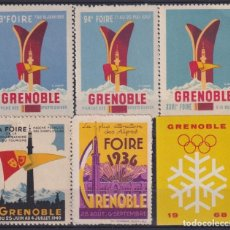 """Sellos: """"F-EX17550 FRACE 1949-68 GRENOBLE CINDERELLA STAMPS LOT MH- NO GUM."""". Lote 209269385"""