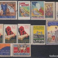 "Sellos: ""F-EX15328 FRANCE FRANCIA CINDERELLA LYON FAIR EXPO 1914-1948."". Lote 209269433"