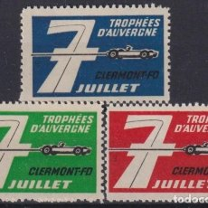 """Sellos: """"F-EX17561 FRANCE CINDERELLA STAMPS LOT AUVERNE CAR RACING STAMPS MNH"""". Lote 209269501"""