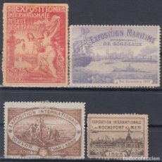 "Sellos: ""F-EX7882 FRANCE FRANCIA CINDERELLA. 1893-1906. INTERNATIONAL EXPO TOULON NANCY BORDEAUX."". Lote 209269572"
