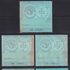 """Sellos: """"F-EX17753 FRANCE MOTOR REVENUE STAMPS AUTOMOVILES 1972 5 ALL DIFFERENT."""". Lote 209269581"""