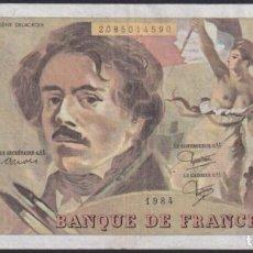 "Sellos: ""F-EX1569 FRANCE FRANCIA FRANCIA 1984 BANKNOTE 100FR. EUGENE DELACROIX VF PLUS."". Lote 209269606"