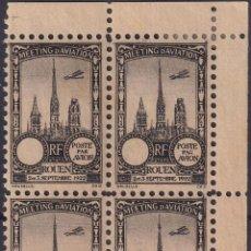 Sellos: F-EX18845 FRANCE CINDERELLA 1922 ROUEN AVIATION MEETING BLOCK 4 PERF.. Lote 219062131
