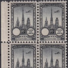 Sellos: F-EX18850 FRANCE CINDERELLA 1922 ROUEN AVIATION MEETING BLOCK 4 PERF.. Lote 219062146