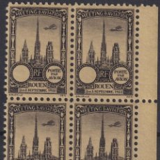 Sellos: F-EX18840 FRANCE CINDERELLA 1922 ROUEN AVIATION MEETING BLOCK 4 PERF.. Lote 219062230