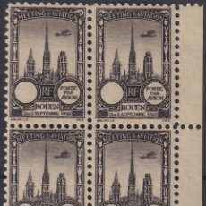 Sellos: F-EX18844 FRANCE CINDERELLA 1922 ROUEN AVIATION MEETING BLOCK 4 PERF.. Lote 219062233