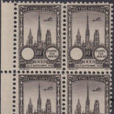 Sellos: F-EX18846 FRANCE CINDERELLA 1922 ROUEN AVIATION MEETING BLOCK 4 PERF.. Lote 219062235