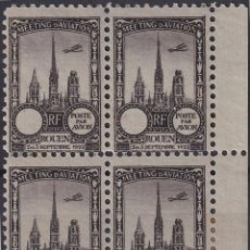 Sellos: F-EX18847 FRANCE CINDERELLA 1922 ROUEN AVIATION MEETING BLOCK 4 PERF.. Lote 219062240