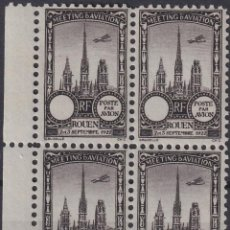 Sellos: F-EX18849 FRANCE CINDERELLA 1922 ROUEN AVIATION MEETING BLOCK 4 PERF.. Lote 219062243