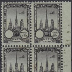 Sellos: F-EX18852 FRANCE CINDERELLA 1922 ROUEN AVIATION MEETING BLOCK 4 PERF.. Lote 219062250