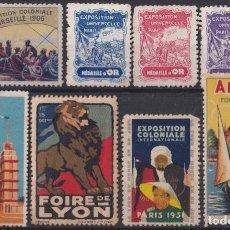 Sellos: F-EX19186 FRANCE FRANCIA CINDERELLA 1900-06 WORLD EXPO LYON COLONIAL FAIR ANNECY.. Lote 226974726