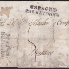 Sellos: F-EX19132 FRANCE 1822 DESINFECTED MAIL TO SPAIN 2 CUT + IMMERATION IN VINEGAR.. Lote 226974749