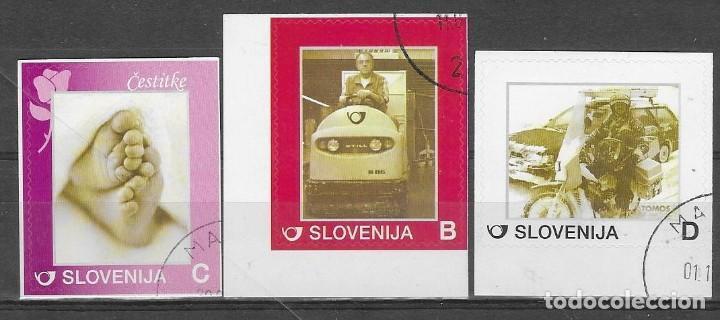 LOTE DE 3 SELLOS USADOS DE ESLOVENIA, FOTO ORIGINAL (Sellos - Extranjero - Europa - Eslovenia)