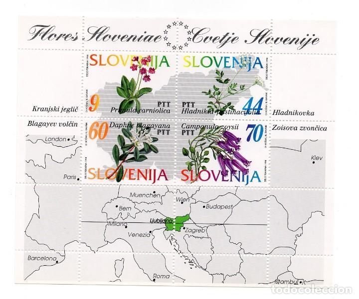ESLOVENIA / SLOVENIJA - FLORA ESLOVENA / FLORES SILVESTRES - AÑO 1994 - 1 HB NUEVA Y PERFECTA (Sellos - Extranjero - Europa - Eslovenia)