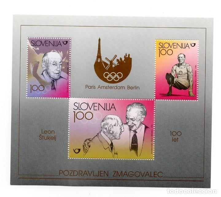 ESLOVENIA / SLOVENIJA - HOMENAJE AL GIMNASTA LEON STUKELJ - AÑO 1998 - 1 HB NUEVA Y PERFECTA (Sellos - Extranjero - Europa - Eslovenia)