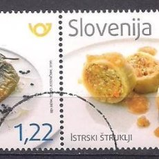 Sellos: ESLOVENIA 2020 - GASTRONOMIA - SPECIMEN (VALOR FACIAL). Lote 253715305