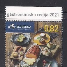 Sellos: ESLOVENIA 2021 - GASTRONOMIA - SPECIMEN A VALOR FACIAL. Lote 267249004