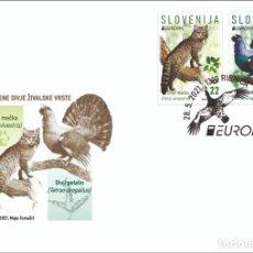 Sellos: SLOVENIA 2021 - EUROPA 2021 - ENDANGERED NATIONAL WILDLIFE FDC. Lote 268903259