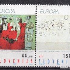 Sellos: ESLOVENIA 1993 EUROPA , MICHEL 48-49. Lote 291586163