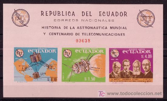Sellos: ECUADOR 752 HB*** SIN DENTAR - AÑO 1966 - CONQUISTA DEL ESPACIO - Foto 2 - 27344125