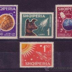 Sellos: ALBANIA 585/88** - AÑO 1962 - CONQUISTA DEL ESPACIO. Lote 26164242