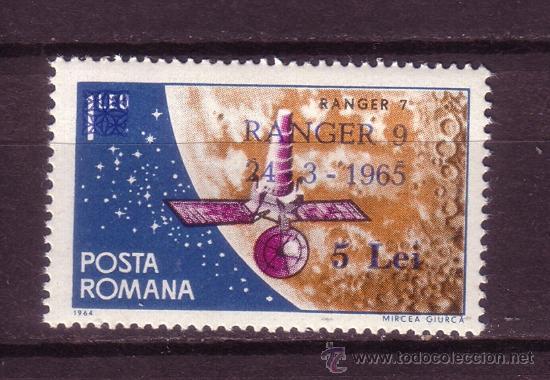 RUMANÍA 2118** - AÑO 1965 - CONQUISTA DEL ESPACIO - LANZAMIENTO DEL SATÉLITE AMERICANO RANGER 9 (Sellos - Temáticas - Conquista del Espacio)