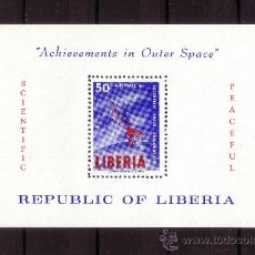 Sellos: LIBERIA HB 30*** - AÑO 1964 - CONQUISTA DEL ESPACIO. Lote 22502509