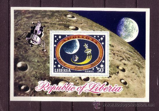 LIBERIA HB 53*** - AÑO 1971 - CONQUISTA DEL ESPACIO - APOLO XIV (Sellos - Temáticas - Conquista del Espacio)