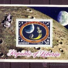 Sellos: LIBERIA HB 53*** - AÑO 1971 - CONQUISTA DEL ESPACIO - APOLO XIV. Lote 22502545