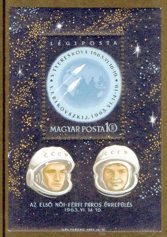 HUNGRIA AÑO 1963 YV HB 44*** VOSTOK 5 Y 6 - ASTRONÁUTICA - CONQUISTA DEL ESPACIO - PERSONAJES (Sellos - Temáticas - Conquista del Espacio)