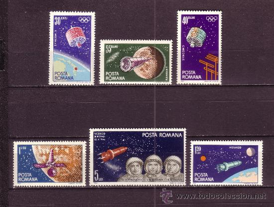 RUMANÍA 2092/97** - AÑO 1965 - CONQUISTA DEL ESPACIO (Sellos - Temáticas - Conquista del Espacio)