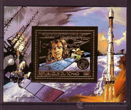 CHAD AÉREO 253 HB*** - AÑO 1983 - CONQUISTA DEL ESPACIO (Sellos - Temáticas - Conquista del Espacio)