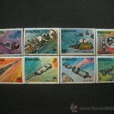 Sellos: RWANDA 1976 IVERT 745/52 *** COOPERACIÓN ESPACIAL USA - URSS - CONQUISTA DEL ESPACIO. Lote 31769324