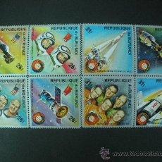 Sellos: BURUNDI 1975 IVERT 637/44 *** COOPERACIÓN PACIFICA DEL ESPACIO USA - URSS. Lote 33011040