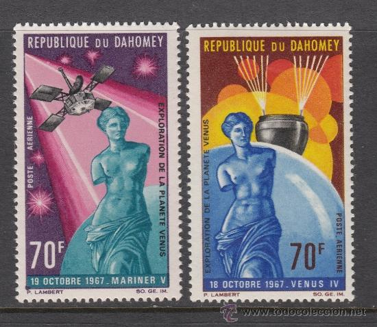 DAHOMEY AEREO 71/72** - AÑO 1968 - CONQUISTA DEL ESPACIO - EXPLORACION DEL PLANETA VENUS (Sellos - Temáticas - Conquista del Espacio)