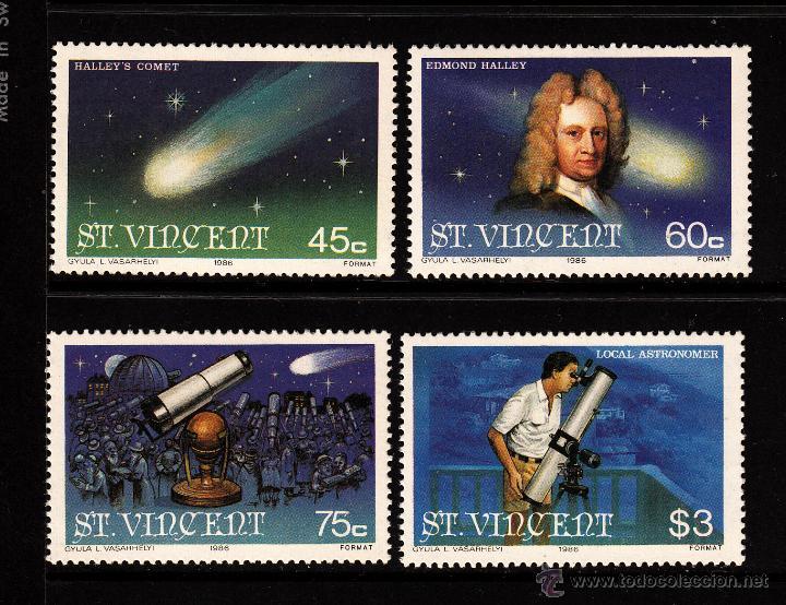 SAN VICENTE 913/16** - AÑO 1986 - PASO DEL COMETA HALLEY - EDMOND HALLEY (Sellos - Temáticas - Conquista del Espacio)