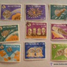Sellos: LOTE DE 9 SELLOS DE ECUADOR : CONQUISTA DE ESPACIO ... Lote 43549413