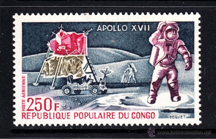 CONGO AEREO 157** - AÑO 1973 - CONQUISTA DEL ESPACIO - APOLO XVII (Sellos - Temáticas - Conquista del Espacio)