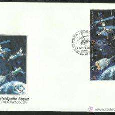 Sellos: ISLAS MARSHALL 1995 SOBRE PRIMER DIA CIRCULACION CONQUISTA DEL ESPACIO- MIR- SHUTTLE - APOLO- SOYUZ . Lote 45117695