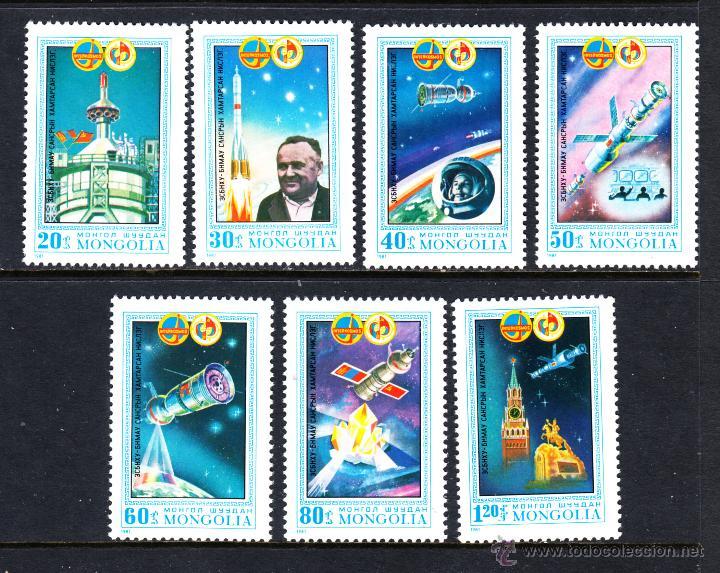 MONGOLIA 1106/12** - AÑO 1981 - CONQUISTA DEL ESPACIO - PROGRAMA INTERCOSMOS (Sellos - Temáticas - Conquista del Espacio)