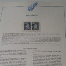 Timbres: ALEMANIA SELLOS CONQUISTA DEL ESPACIO- RADIOTELESCOPIO- RADAR. Lote 48803193