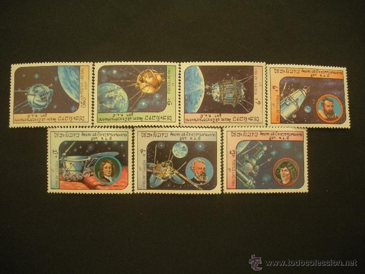 LAOS 1984 IVERT 590/96 *** EXPLORACIÓN DEL ESPACIO - SATÉLITES (Sellos - Temáticas - Conquista del Espacio)
